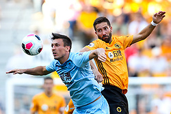 Joao Moutinho of Wolverhampton Wanderers challenges Jack Cork of Burnley - Mandatory by-line: Robbie Stephenson/JMP - 25/08/2019 - FOOTBALL - Molineux - Wolverhampton, England - Wolverhampton Wanderers v Burnley - Premier League