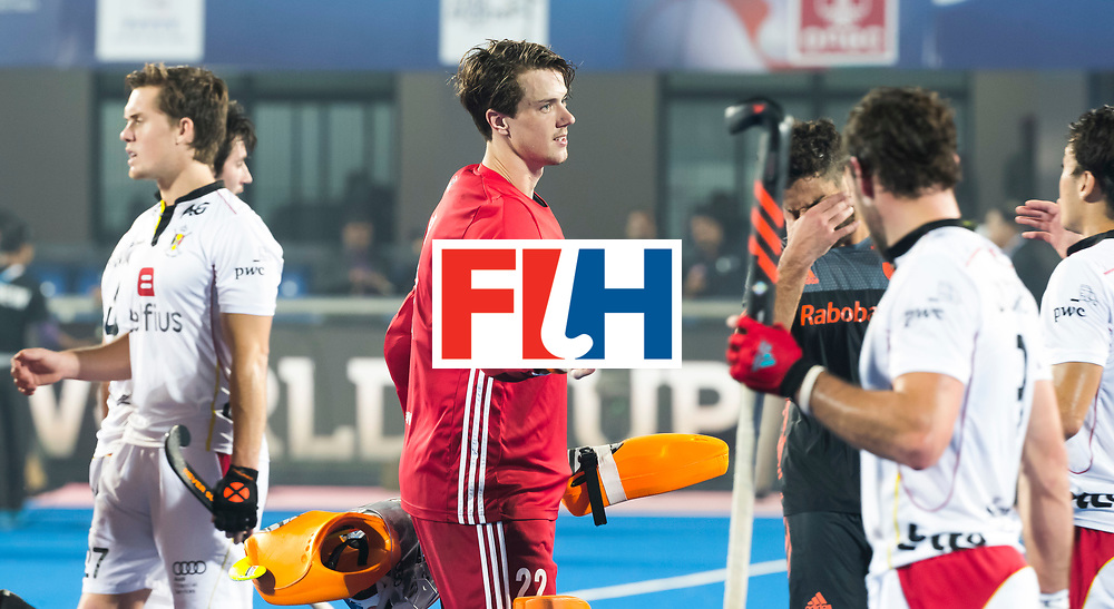 BHUBANESWAR - keeper Sam van der Ven (Ned)   nade Hockey World League Final wedstrijd Belgie-Nederland (3-0).  COPYRIGHT KOEN SUYK