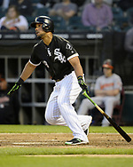 CHICAGO - MAY 23:  Jose Abreu #79 of the Chicago White Sox bats against the Baltimore Orioles on May 23, 2018 at Guaranteed Rate Field in Chicago, Illinois.  (Photo by Ron Vesely)  Subject: Jose Abreu