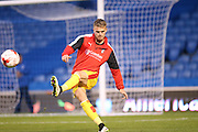 Rotherham United midfielder Danny Ward warming up during the Sky Bet Championship match between Brighton and Hove Albion and Rotherham United at the American Express Community Stadium, Brighton and Hove, England on 15 September 2015.