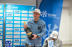 Tim Mastnak of Slovenia, silver medalist at Giant Slalom Snowboard World Championships in Utah, USA during press conference after arrival in Ljubljana, Slovenia, on February 11, 2019. Photo by Anze Petkovsek / Sportida