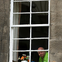 Old sash window, Edinburgh, Scotland<br />