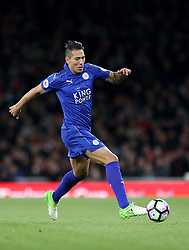 "Leicester City's Leonardo Ulloa during the Premier League match at the Emirates Stadium, London. PRESS ASSOCIATION Photo. Picture date: Wednesday April 26, 2017. See PA story SOCCER Arsenal. Photo credit should read: Steven Paston/PA Wire. RESTRICTIONS: EDITORIAL USE ONLY No use with unauthorised audio, video, data, fixture lists, club/league logos or ""live"" services. Online in-match use limited to 75 images, no video emulation. No use in betting, games or single club/league/player publications"