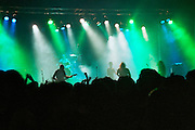 Israel, Tel Aviv, band during a Heavy Metal rock performance, green lights on the stage