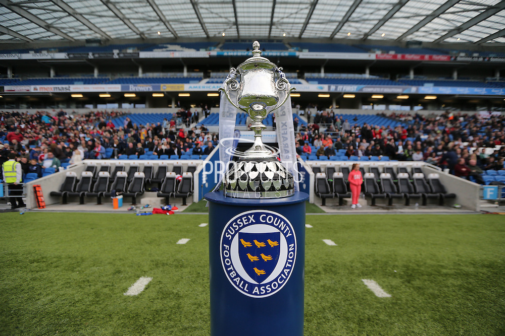 The Parafix Sussex Senior Cup before the Sussex Senior Cup Final match between Eastbourne Borough and Worthing FC at the American Express Community Stadium, Brighton and Hove, England on 20 May 2016.