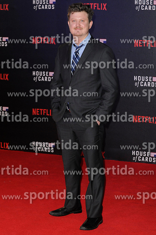 Beau Willimon attends the World Premiere of 'House of Cards' Season 3 at The Empire Cinema on February 26, 2015 in London, England. EXPA Pictures &copy; 2015, PhotoCredit: EXPA/ Photoshot/ Euan Cherry<br /> <br /> *****ATTENTION - for AUT, SLO, CRO, SRB, BIH, MAZ only*****