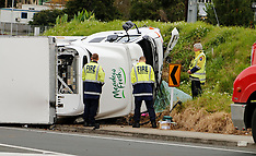 Auckland-Car collides with milk truck, Greys Avenue