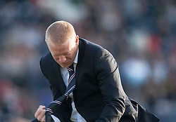 Falkirk's manager Gary Holt cele Kris Faulds scoring their goal. Raith Rovers 1 v 1 Falkirk, Scottish Championship 28/9/2013.<br /> &copy;Michael Schofield.
