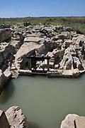 Israel, Maagan Michael, Nahal Taninim - Crocodile River national park, The ancient floodgate device and Roman Aqueduct