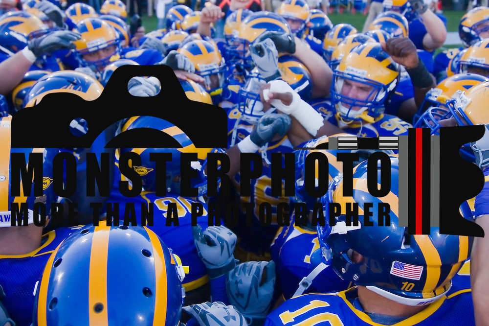 The Delaware Fighten Blue Hens about take the field at Delaware Stadium in Newark Delaware. Delaware defeated Duquesne 30-6