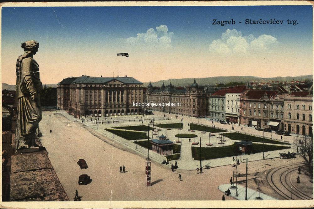 Zagreb : Starčevićev trg. <br /> <br /> ImpresumZagreb : Papirna H. Ruždija, [1932].<br /> Materijalni opis1 razglednica : tisak ; 8,6 x 13,7 cm.<br /> NakladnikPapirna H. Ruždija<br /> Mjesto izdavanjaZagreb<br /> Vrstavizualna građa • razglednice<br /> ZbirkaZbirka razglednica • Grafička zbirka NSK<br /> Formatimage/jpeg<br /> PredmetZagreb –– Trg Ante Starčevića<br /> Hotel Esplanade (Zagreb)<br /> SignaturaRZG-STAR-1<br /> Obuhvat(vremenski)20. stoljeće<br /> NapomenaRazglednica je putovala 1932. godine.<br /> PravaJavno dobro<br /> Identifikatori000953263<br /> NBN.HRNBN: urn:nbn:hr:238:325604  <br /> <br /> Izvor: Digitalne zbirke Nacionalne i sveučilišne knjižnice u Zagrebu