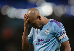 Fernandinho of Manchester City looks dejected - Mandatory by-line: Jack Phillips/JMP - 18/01/2020 - FOOTBALL - Etihad Stadium - Manchester, England - Manchester City v Crystal Palace - English Premier League