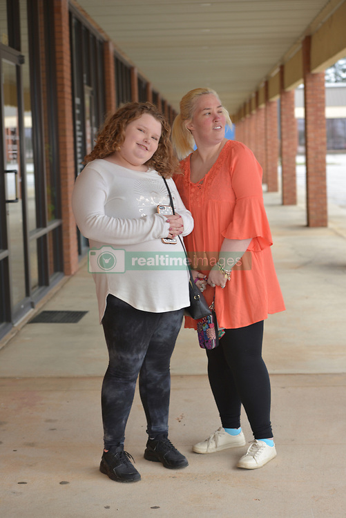 "EXCLUSIVE: June Shannon (Mama June) and her daughters, Alana Thompson (Honey Boo Boo) and Lauryn Shannon (Pumpkin) and her boyfriend, Josh Efird, their 2 month old daughter, Ella Grace Efird, sister JoAnne Shannon (Doe Doe), and niece Amber Busby and other family members raise money for the Children's Hospital of Macon in Hampton, Ga. on February 18, 2018. They had a fan meet and greet at Last Chance Liquidators, Doe Doe's store. They sold raffle tickets for mystery boxes of products, homemade slime, and signed posters of their new television show on the WE network, ""Mama June, From Not to Hot"". Alana stayed up to 5 a.m to make 450 jars of slime. They are donating half the proceeds and garnering more support on social media for the cause. 18 Feb 2018 Pictured: Honey Boo Boo and Mama June. June Shannon (Mama June) and her daughters, Alana Thompson (Honey Boo Boo) and Lauryn Shannon (Pumpkin) and her boyfriend, Josh Efird, their 2 month old daughter, Ella Grace Efird, sister JoAnne Shannon (Doe Doe), and niece Amber Busby and other family members raise money for the Children's Hospital of Macon in Hampton, Ga. on February 18, 2018. They had a fan meet and greet at Last Chance Liquidators, Doe Doe's store. They sold raffle tickets for mystery boxes of products, homemade slime, and signed posters of their new television show on the WE network, ""Mama June, From Not to Hot"". Alana stayed up to 5 a.m to make 450 jars of slime. They are donating half the proceeds and garnering more support on social media for the cause. Photo credit: Dana Mixer / MEGA TheMegaAgency.com +1 888 505 6342"