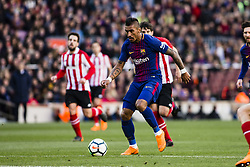 March 18, 2018 - Barcelona, Spain - BARCELONA, SPAIN - MARCH 18: 15 Paulinho from Brasil of FC Barcelona during La Liga match between FC Barcelona v Atletic de Bilbao at Camp Nou Stadium in Barcelona on 18 of March, 2018. (Credit Image: © Xavier Bonilla/NurPhoto via ZUMA Press)