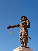 Laos, Vientiane. Chao Anouvong Statue.