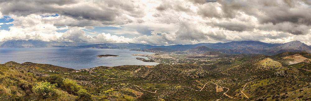 Bay of Mirabello in Lassithi, Crete Greece.