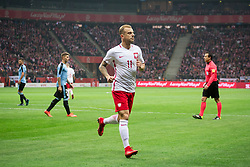 November 10, 2017 - Warsaw, Poland - Kamil Grosicki (11) during the international friendly soccer match between Poland and Uruguay at the PGE National Stadium in Warsaw, Poland on 10 November 2017  (Credit Image: © Mateusz Wlodarczyk/NurPhoto via ZUMA Press)