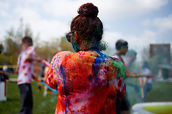 April 28, 2018 - Philadelphia, PA, USA - Students from Drexel University participate in a celebration of Holi, the Indian ''festival of colors'' marking the arrival of spring. (Credit Image: © Michael Candelori via ZUMA Wire)