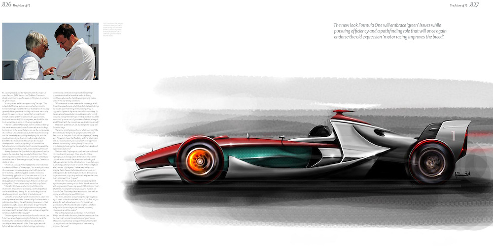 Future Formula 1 car design for the F1 Opus collectors edition book. Freehand sketch on adobe photoshop using a wacom bamboo tablet by adrian dewey