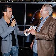 """NLD/Volendam/20121018 - Boekpresentatie """" Het geheim van de Smit, Jan Smit en manager Jaap Buijs"""