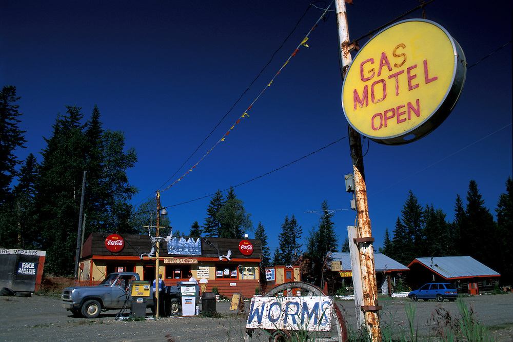 Gas Station, McLeod Lake,.British Columbia, Canada