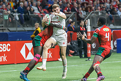 March 9, 2019 - Vancouver, BC, U.S. - VANCOUVER, BC - MARCH 09: Action during Game #21- Kenya 7s vs Canada 7s in Pool B match-up at the Canada Sevens held March 9-10, 2019 at BC Place Stadium in Vancouver, BC, Canada. (Photo by Allan Hamilton/Icon Sportswire) (Credit Image: © Allan Hamilton/Icon SMI via ZUMA Press)