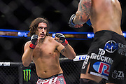 DALLAS, TX - MARCH 14:  Elias Theodorou fights Roger Narvaez during UFC 185 at the American Airlines Center on March 14, 2015 in Dallas, Texas. (Photo by Cooper Neill/Zuffa LLC/Zuffa LLC via Getty Images) *** Local Caption *** Elias Theodorou