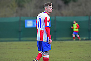 Dorking Wanderers James McShane during the Ryman League - Div One South match between Dorking Wanderers and Lewes FC at Westhumble Playing Fields, Dorking, United Kingdom on 28 January 2017. Photo by Jon Bromley.