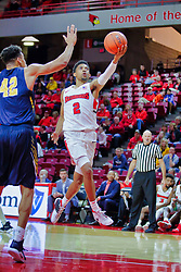 NORMAL, IL - November 03: Zach Copeland during a college basketball game between the ISU Redbirds  and the Augustana Vikings on November 03 2018 at Redbird Arena in Normal, IL. (Photo by Alan Look)
