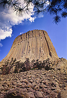 This large boulder field is found at the base of the tower on the west side.  Devils Tower National Monument, Wyoming.
