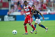 FRISCO, TX - AUGUST 11:  Erick #12 of FC Dallas controls the ball against the Los Angeles Galaxy on August 11, 2013 at FC Dallas Stadium in Frisco, Texas.  (Photo by Cooper Neill/Getty Images) *** Local Caption *** Erick