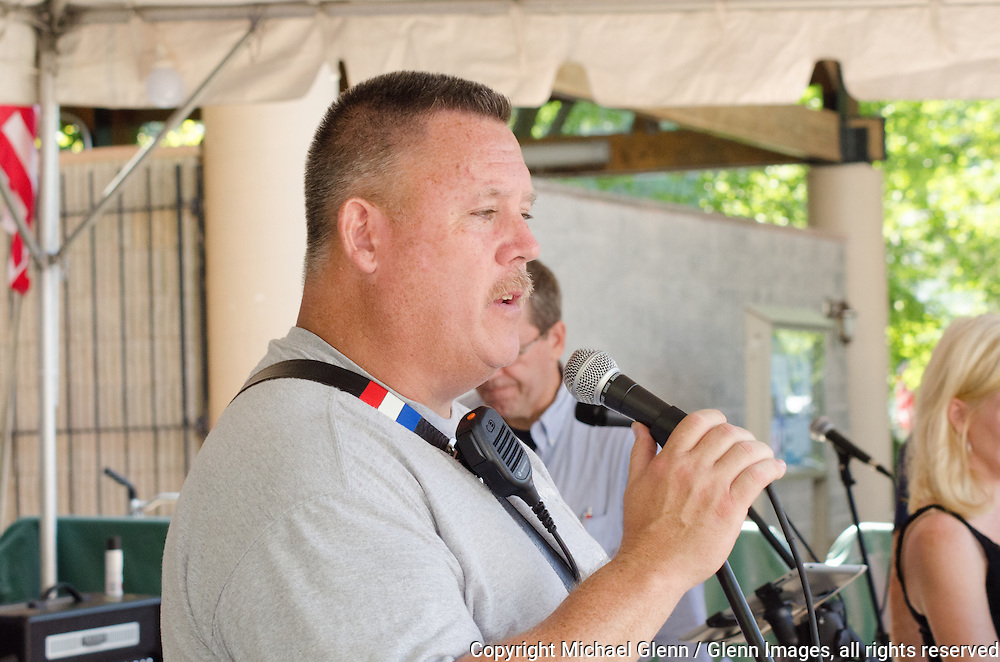 19 Sep 2015 Staten Island, New York US // FDNY CDU John LaPointe addresses members and families at the 8th annual Lt. John Martinson Memorial Picnic at the Hillside Swim Club //  Michael Glenn  /   for the FDNY