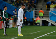 Ross Barkley  of England prepares to come on during the 2014 FIFA World Cup match at Arena Corinthians, Sao Paulo<br /> Picture by Andrew Tobin/Focus Images Ltd +44 7710 761829<br /> 19/06/2014