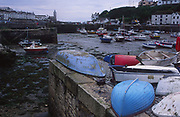 AE2KY5 Porthleven harbour low tide Cornwall England