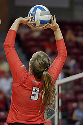 23 September 2017:  Stef Jankiewicz during a college women's volleyball match between the Salukis of Southern Illinois and the Illinois State Redbirds at Redbird Arena in Normal IL (Photo by Alan Look)