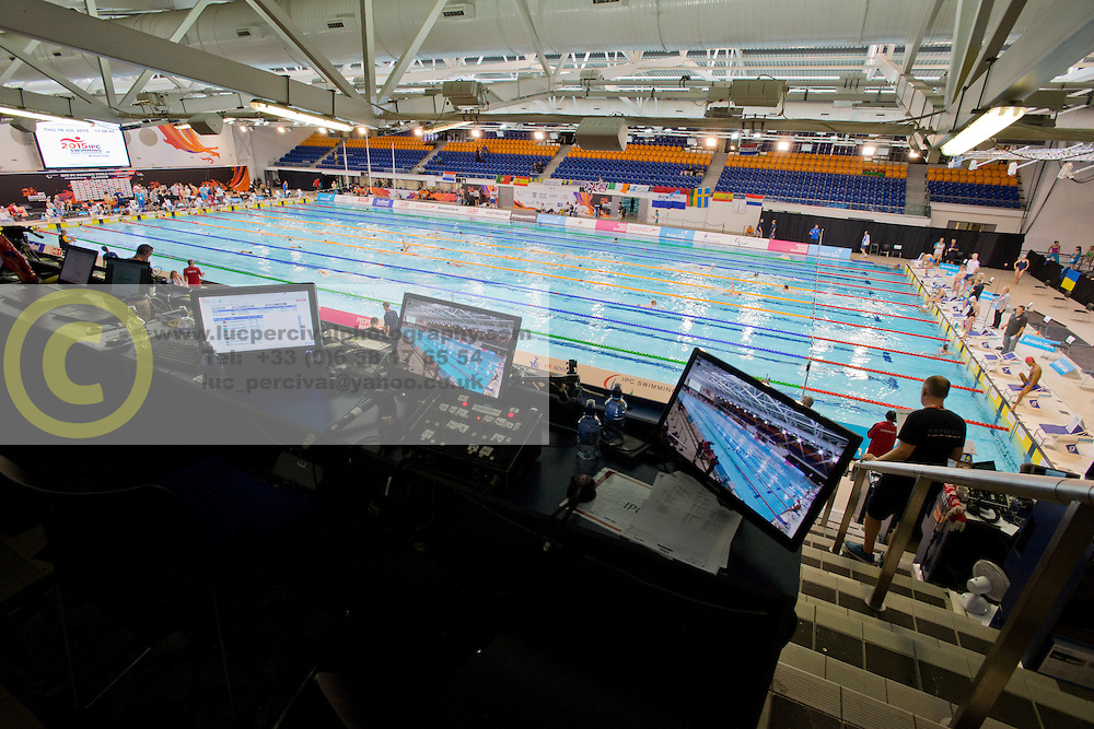 View on pool from media tribune  at 2015 IPC Swimming World Championships -