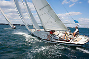 Fortune racing at the Museum of Yachting Classic Yacht Regatta