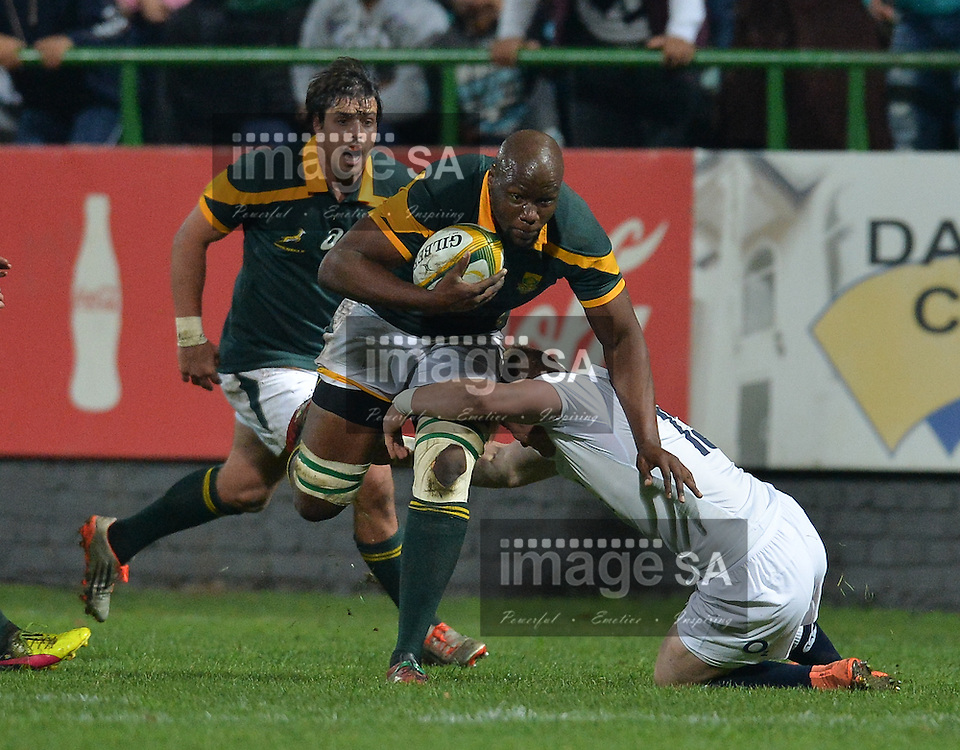 GEORGE, SOUTH AFRICA - JUNE 17: Oupa Mohoje, captain of South Africa during the match between South Africa 'A' and England Saxons at Outeniqua Park on June 17 2016 in George, South Africa. (Photo by Roger Sedres/Gallo Images)