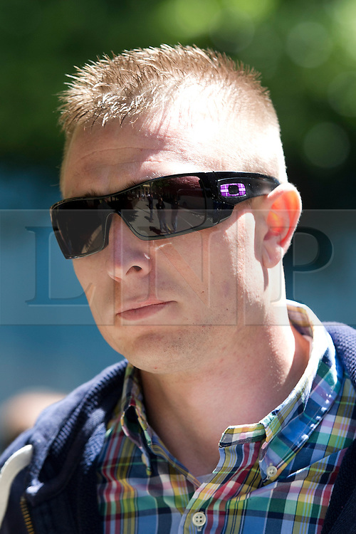 © London News Pictures. 05/06/2013. London, UK. News International security guard,LEE SANDELL, leaving Southwark Crown Court in London where he faced charges relating to phone hacking scandal at the News of The World. Photo credit: Ben Cawthra/LNP