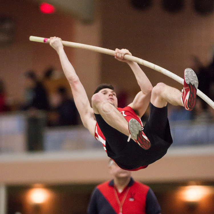 Bowdoin Indoor 4-way track meet: mens pole vault
