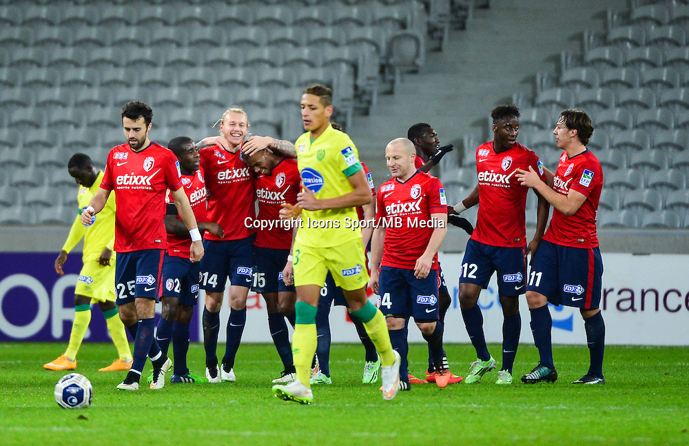 Joie Simon KJAER - 14.01.2014 - Lille / Nantes - 1/4Finale Coupe de la Ligue<br /> Photo : Dave Winter / Icon Sport