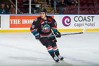 KELOWNA, CANADA - OCTOBER 5:  Liam Kindree #26 of the Kelowna Rockets skates against the Victoria Royals on October 5, 2018 at Prospera Place in Kelowna, British Columbia, Canada.  (Photo by Marissa Baecker/Shoot the Breeze)  *** Local Caption ***
