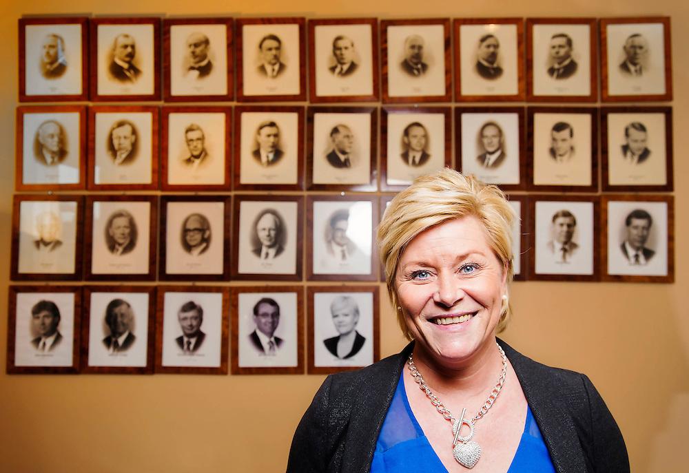 OSLO 2014-01-10: Portrettintervju med Siv Jensen, for Skattebetalerforeningen. FOTO:WERNERJUVIK
