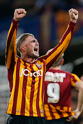 Gary Liddle of Bradford City celebrates after Bradford City pull of a remarkable comeback from 2-0 down to win the match 2-4 and progress to the fifth round of the FA Cup - Photo mandatory by-line: Rogan Thomson/JMP - 07966 386802 - 24/01/2015 - SPORT - FOOTBALL - London, England - Stamford Bridge - Chelsea v Bradford City - FA Cup Fourth Round Proper.