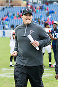 NASHVILLE, TN - OCTOBER 25:  Head Coach Dan Quinn of the Atlanta Falcons jogs off the field after a game against the Tennessee Titans at Nissan Stadium on October 25, 2015 in Nashville, Tennessee.  The Falcons defeated the Titans 10-7.  (Photo by Wesley Hitt/Getty Images) *** Local Caption *** Dan Quinn