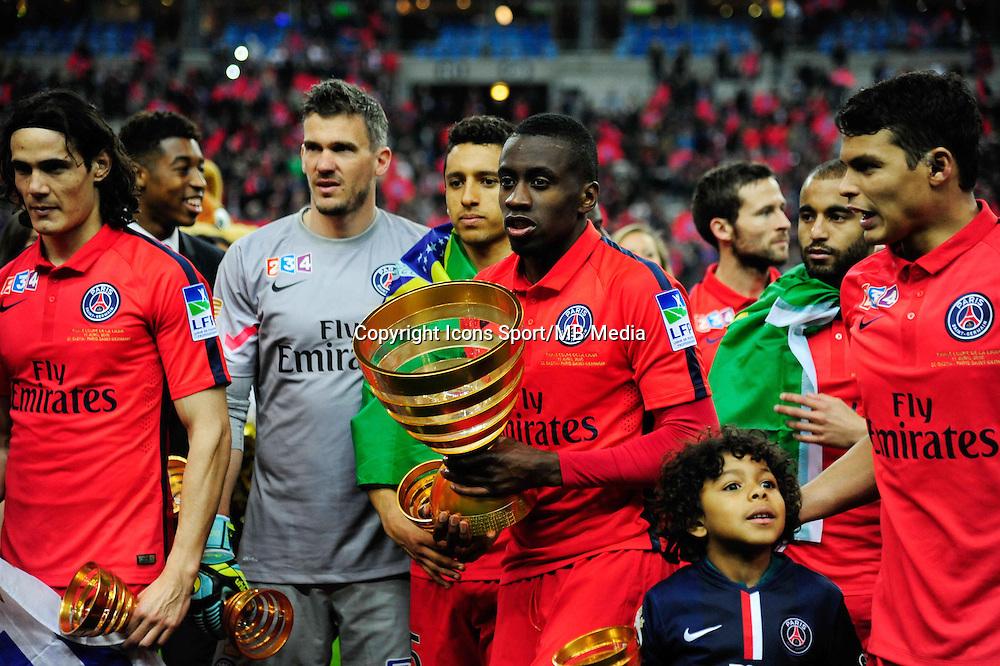 Victoire du PSG / Blaise MATUIDI    - 11.04.2015 -  Bastia / PSG - Finale de la Coupe de la Ligue 2015<br />Photo : Dave Winter / Icon Sport