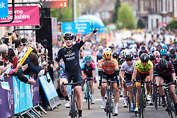 Stage winner, Kirsten Wild (NED) at ASDA Tour de Yorkshire Women's Race 2018 - Stage 1, a 132.5 km road race from Beverley to Doncaster on May 3, 2018. Photo by Sean Robinson/Velofocus.com