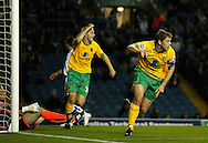 Leeds - Monday October 19th, 2009: Grant Holt (R) of Norwich City celebrates their first goal during the Coca Cola League One match at Elland Road, Leeds. (Pic by Paul Thomas/Focus Images)..