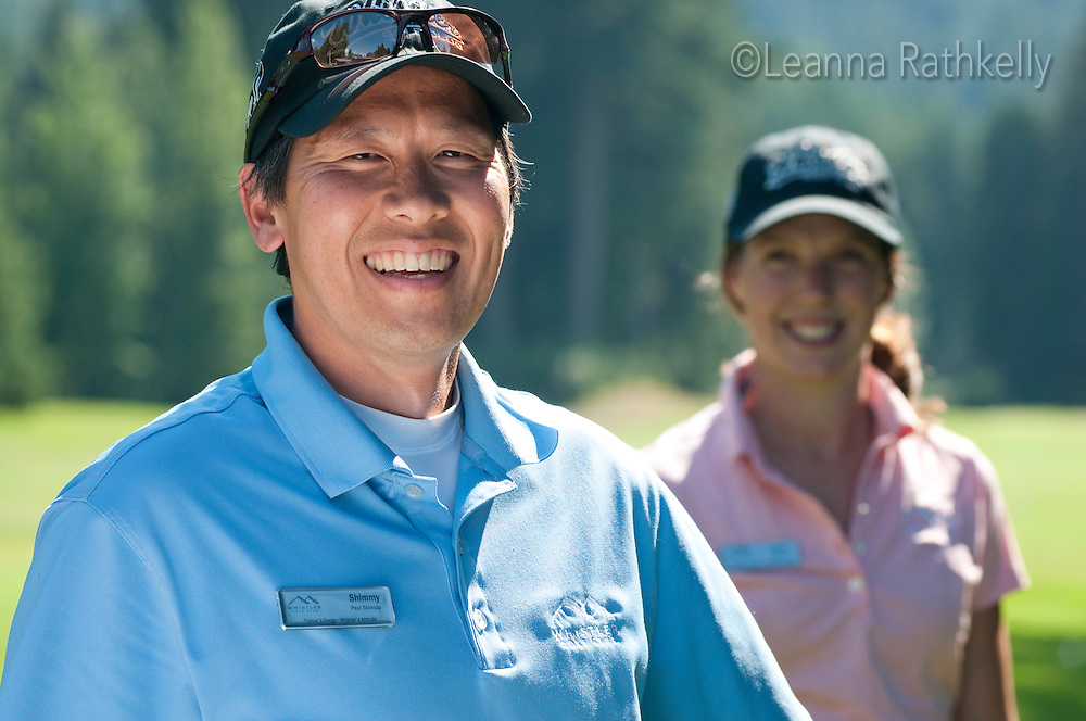 Shimmy and Devon are enthusiastic members of the guest services team at the Whistler Golf Course.