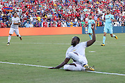 Manchester United Forward Romelu Lukaku misses early chance during the International Champions Cup match between Barcelona and Manchester United at FedEx Field, Landover, United States on 26 July 2017.